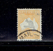 Australia  #126 1932  5/-  Wmk 228  VF Used  Yellow and Gray- SCV $27.50