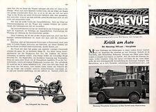 HANOMAG-cylindres-limousine critique du voiture de wolfgang v. Lengerke c.1930