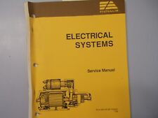 Fiat Allis electrical service Manual Form 604.06.381