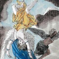 Gravure XVIIIe Icare Ikarus Ίκαρος Ikaros Icarus Ikar Ікар Dédale 1793
