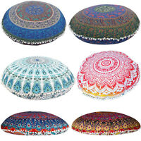 Indian Mandala Floor Pillow Case Throw Cushion Cover Pouf Sham Home Decor AX