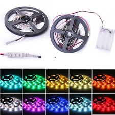 100cm 3Mode LED Dress Portable Waterproof RGB LED Strip Lights W/ Batteries Box