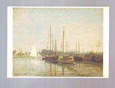 carte postale : Claude Monet - bateaux de plaisance - neuve - a ecrire