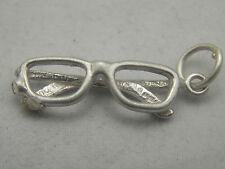 3d argento Sterling Charm paio di occhiali