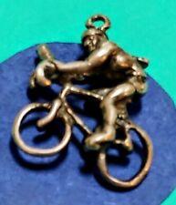 Charm Z58 Bicyclist Sterling Silver Vintage Bracelet