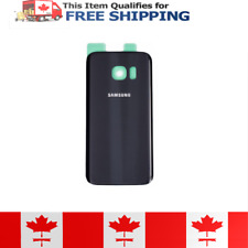 Samsung Galaxy S7 Glass Black Battery Door Replacement Cover