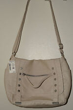 AEROPOSTALE Faux Leather Messenger Crossbody Bag Purse Cream NWT Retail $59.50