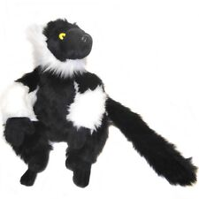 25cm Black Lemur Soft Cuddly Toy By Dowman - Plush Teddy Toy Gift idea