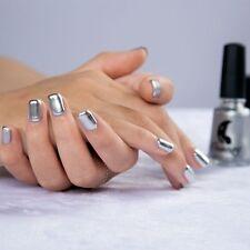 6ML Silver Magic Mirror Effect Chrome Nail Polish Metallic Holographic Solid
