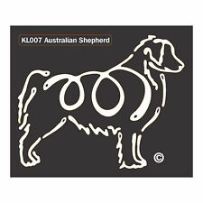 Australian Shepherd K-Lines Dog Car Window Tattoo Decal Sticker