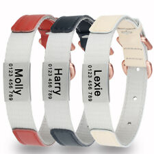 Personalized Dog Collar Small Cat Medium Puppy Free Engraved ID Name Tag Nylon