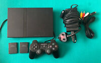 Sony PlayStation 2 Slim- PS2 - 1x Official Controller+2x Memory Cards-SCPH-70003