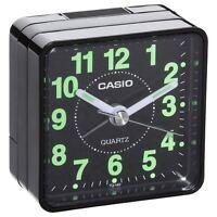 Casio TQ140-1 Black Travel Quartz Beep Alarm Clock -NEW
