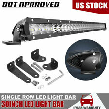 "30"" 150W Slim LED Light Bar Lower Bumper Grille For Toyota Tundra Tacoma WM11"