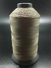 8oz Spool Beaver Tan T90 2250 Yard Bonded Polyester Sewing Thread V92 Fabric P26