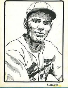 T.S. O'Connell Original Artwork - Pen-and-Ink from Mini-Prints - Dizzy Dean