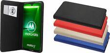 Motorola Moto G7 Book Style Hülle Handytasche Zubehör Schale 4 FARBEN