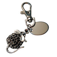 PL296 Giraffe flower custom engraved personalised keyring with gift pouch
