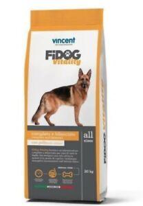 Crocchette Fidog Vitality Cani Attivi 20 Kg Carne Verdure Cerali Completo MANTEN