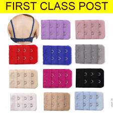 2 Hooks Ladies Bra Extender Bra Extension Strap Underwear Strapless x 3