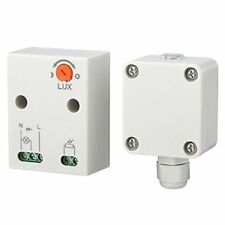 Maclean sensor crepuscular 3450w exterior interruptor 2 - 100 Lux 360° detector
