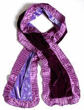echarpe fantaisie femme velours double face violet prune parme