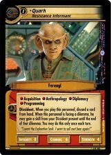 Star Trek CCG 2E Call To Arms Quark, Resistance Informant 3R182