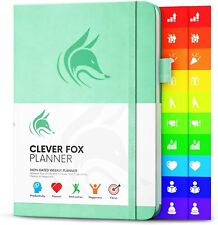 Clever Fox Daily Planner Undated Fianancial Academic Fiscal Year MINT
