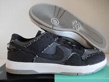 NIKE SB ZOOM DUNK LOW ELITE QS MEDICOM BEARBRICK BLACK DENIM SZ 14 [877063-002]