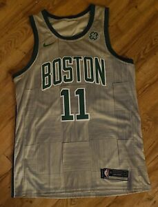 Boston Celtics Kyrie Irving Gray sewn Nike Jersey men's size-52 XL New