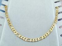 Collana Uomo Maglia Figaro Oro Giallo Elegante 60 cm Catena Gioielli Unisex