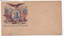 1860s Us Civil War Patriotic cover George Washington, Flags & Eagle