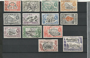 STAMPS NIGERIA QE II SG 69/80 VFUSED
