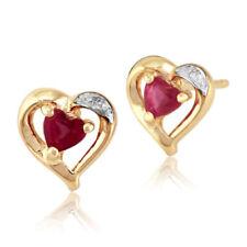 Pendientes de joyería con gemas mariposas rubí
