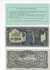 PRICE REDUCED TEN DOLLAR MP NOTES MALAYA /JAPANESE MILITARY CURRENCY