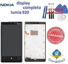 lcd nokia lumia 920 display touch screen frame vetro schermo originale nero