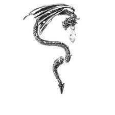 Alchemy Gothic Swarovski Crystal Dragon Wing PELTRO Ear Stud Frame Orecchino