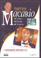 TUTTO MACARIO Chiamate Arturo 777 - DVD ORIGINALE EDIZIONE 2007