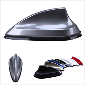 Grey Fifth Generation Shark Fin Decor Car Roof Antenna Aerial FM AM Radio Signal