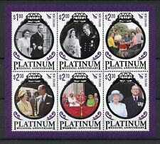 New Zealand NZ 2017 MNH Queen Elizabeth II Platinum Wedding 6v M/S Stamps