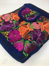 Guatemala Handmade Multicolor Floral Boho Hippie Shoulder Bag Crossbody F035