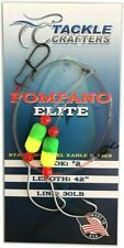 Pompano Rig - Saltwater Fishing Gear Surf Leaders Hooks (12 Pack) Made in USA