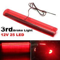 Universal 12V 25 LED High Mount Level Third 3RD Brake Stop Rear Tail Light US ;