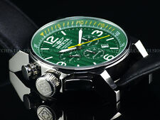 Invicta I-Force Army Lefty SII Chronograph Braided Shamrock Green Dial SS Watch