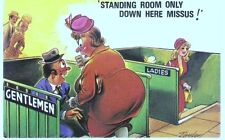 Bamforth Comic Series. The Toilet Standing room only down here Missus C. N. 509