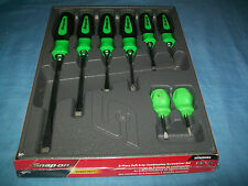 NEW Snap-on™ Instinct GREEN Soft Handled 8piece Screwdriver SET SGDX80BG Sealed