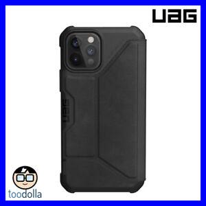 UAG Urban Armor Gear Metropolis Wallet Case, Leather, iPhone 12 / 12 Pro, Black