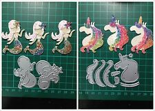 D066 1pc Mermaid 1pc Unicorn Cutting Die for Sizzix Spellbinders Etc. Machine