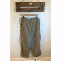 Columbia PFG olive convertible ripstop pants Women's size Large