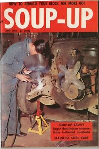 Vtg June 1960 Soup-Up Magazine Hot Rod Drag Race Speed Shop